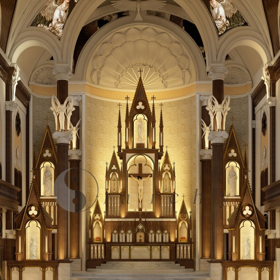 Altar for Holy Redeemers church  – Thisayanvilai